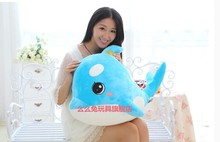 middle size lovely plush creative dolphin blue plush  toy cute dolphin doll about 55cm