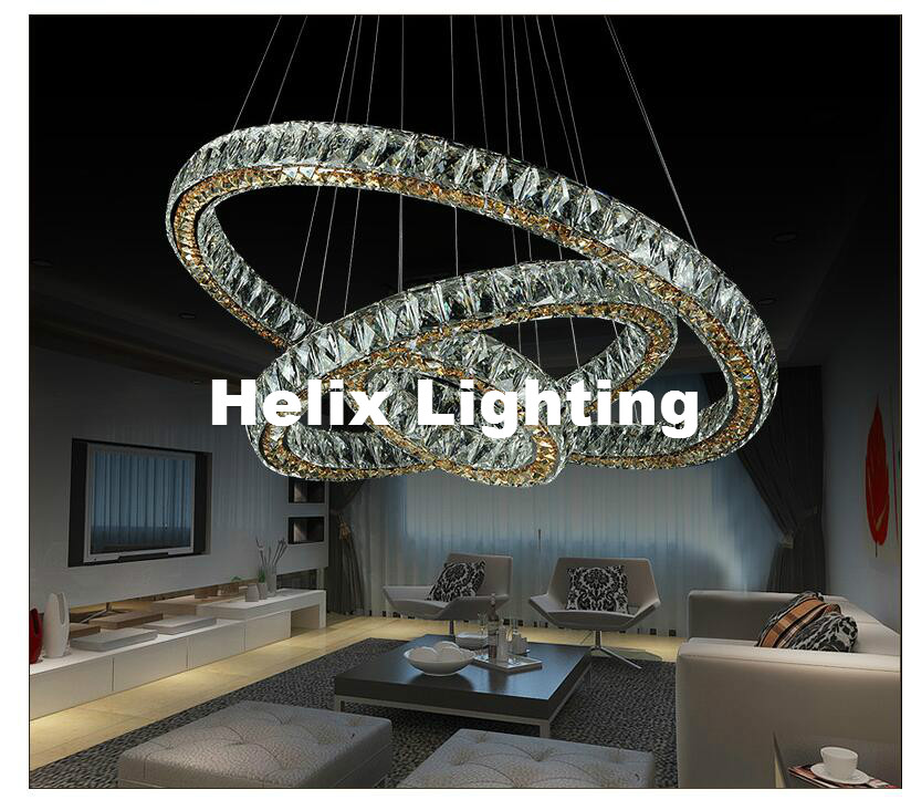 Free Shipping Diamond Ring LED Crystal Pendant Light Modern LED Lighting Circles Pendant Lamp 100% Guarantee Lustres Luminaire funry st1 1gang uk standard smart switch remote control touch wall lamp panel waterproof surface tempered glass panel 170 240v