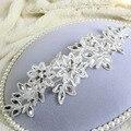 La nueva novia de encaje blanco flor del tocado del pelo accesorios de perlas de cristal accesorios del vestido de boda acessorios para cabelo XA26