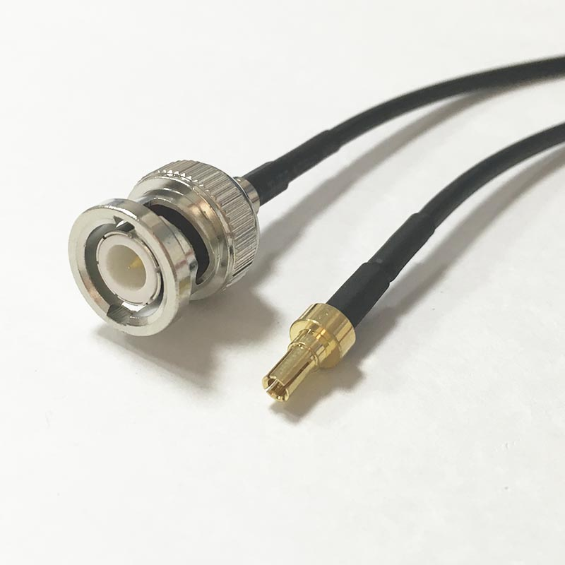 New BNC Male plug Connector Switch CRC9 Male Plug Connector RG174 Coaxial Cable Pigtail 20CM