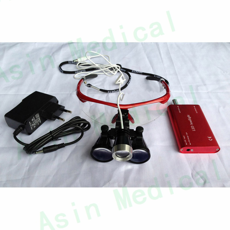 dental magnifier with led headlamp binocular medical loupes antifog glasses surgical ENT magnifier