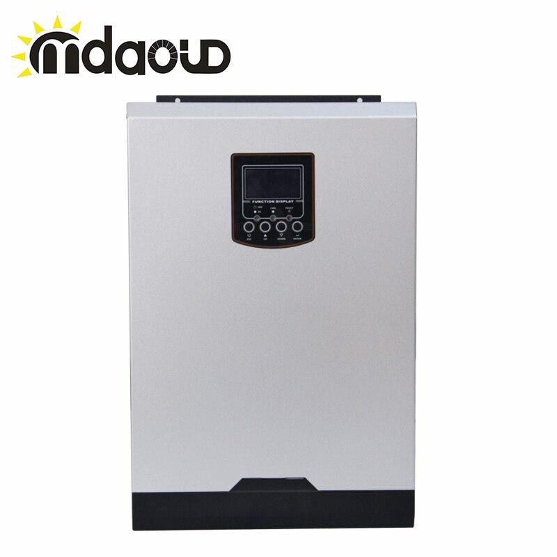 Fora Da Grade híbrido 3000 W/3200 W/5000 W MPPT Carregador Solar Inversor Embutido PF1.0 80A Suporte Móvel monitoramento WI-FI