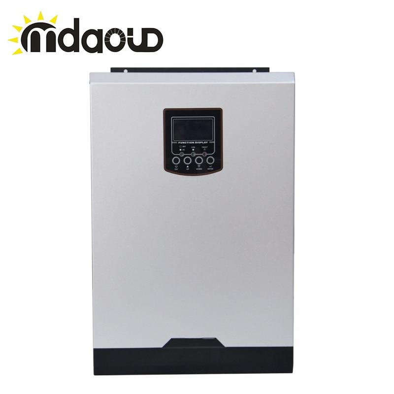Hybride off grille 5000 w 80A DC48v À AC230v chargeur onduleur solaire Intégré mppt