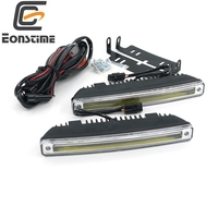 18CM 8W 2pcs 8W COB LED Daytime Running Light Day Light Led Car Waterproof Universal DRL