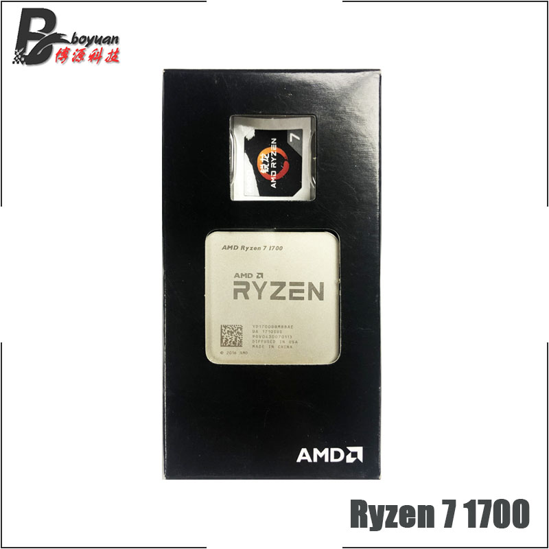 AMD Ryzen 7 1700 R7 1700 3 0 GHz Eight Core CPU Processor YD1700BBM88AE Socket AM4