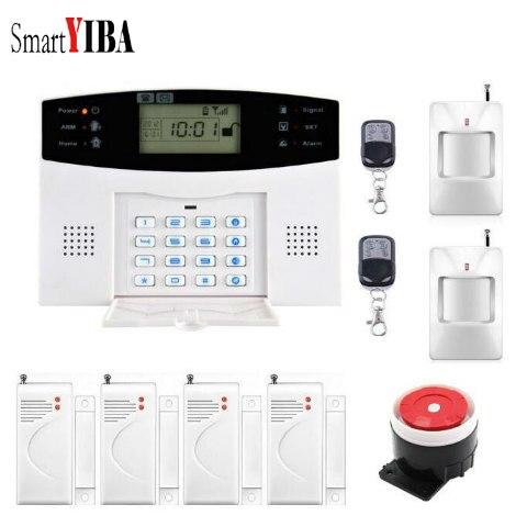 SmartYIBA Wireless GSM Alarm System Remote Controller Motion Detection Door Sensor Siren Alarm Kits