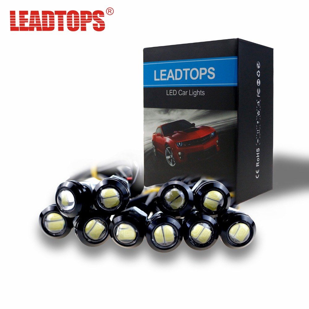 LEADTOPS 10/lot 18MM Eagle Eye Light Car Auto LED DRL Light 5630 2SMD 12V 2W Fog Tail Lamp Waterproof Reverse Lamp AE  9w red high power led eagle eye under car body lamp drl fog light 9w motorcycle 6pcs lot free shipping