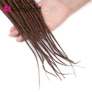 Image 2 - Sambraid nowe dredy włosy syntetyczne do warkoczy Dreads blond szydełkowe warkocze do przedłużania włosów 20 cali faux zamki dla kobiet