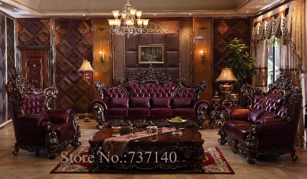 Sofa Set Living Room Furniture Luxury Genuine Leather Sofa