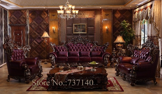 sofa set living room furniture luxury genuine leather sofa set ...