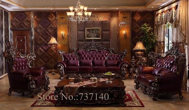 sofa set living room furniture luxury genuine leather sofa ...