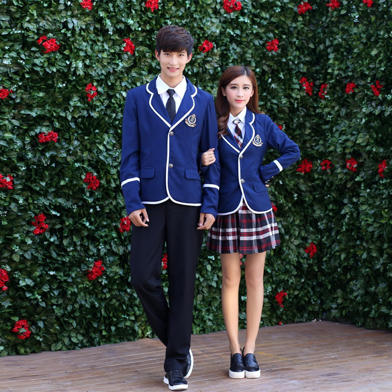 Japanese School Uniform For Boys and Girl JK British Korean College Students Costumes Women Shirt+Jacket+Skirt Clothes Set zapatillas de moda 2019 hombre
