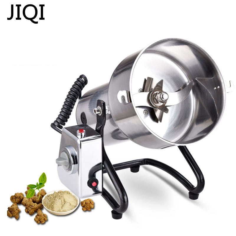 JIQI Commercial 500g stainless steel swing medicine grinder mill small powder machine ultrafine chinese supplier stainless steel 2000g 2kg household electric swing grinder mill small powder machine food grinding machine