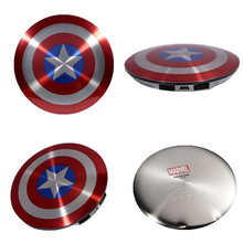 SIBAINA 6800mAh External Battery Captain America Shield Power Bank Charger for iPhone 7 6 6s plus