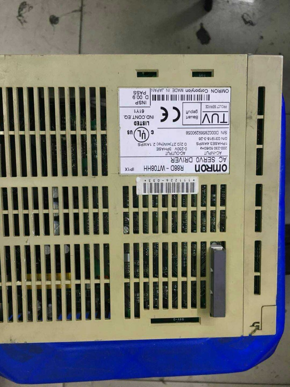 Servo R88D-WT08HH  , used ,90% appearence new    , 3 months warranty , in stockServo R88D-WT08HH  , used ,90% appearence new    , 3 months warranty , in stock