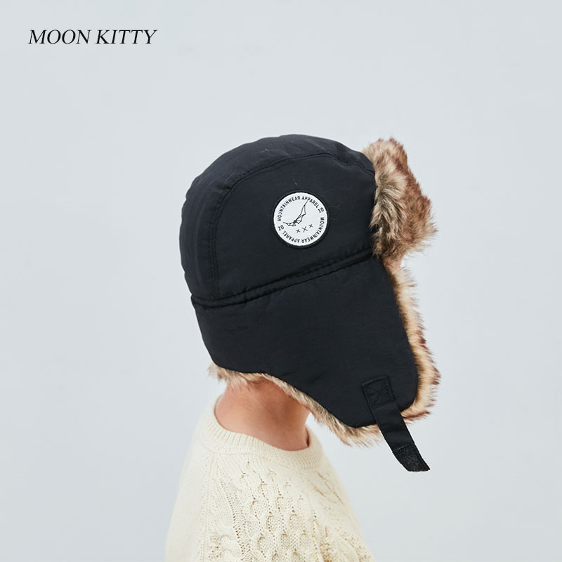 Moon Kitty Baby Girls Winter Hats Candy Colored Earmuffs Cap