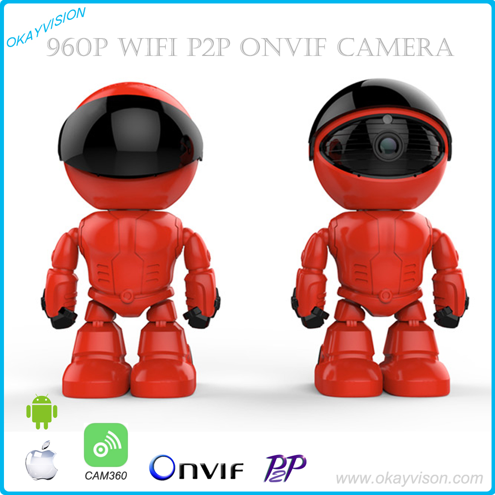 960P Wireless Robot IP Camera WIFI HD PTZ 1.3MP CMOS Audio P2P Onvif Night Vision SD TF Card Slot Security Cam Baby Moniter howell wireless security hd 960p wifi ip camera p2p pan tilt motion detection video baby monitor 2 way audio and ir night vision