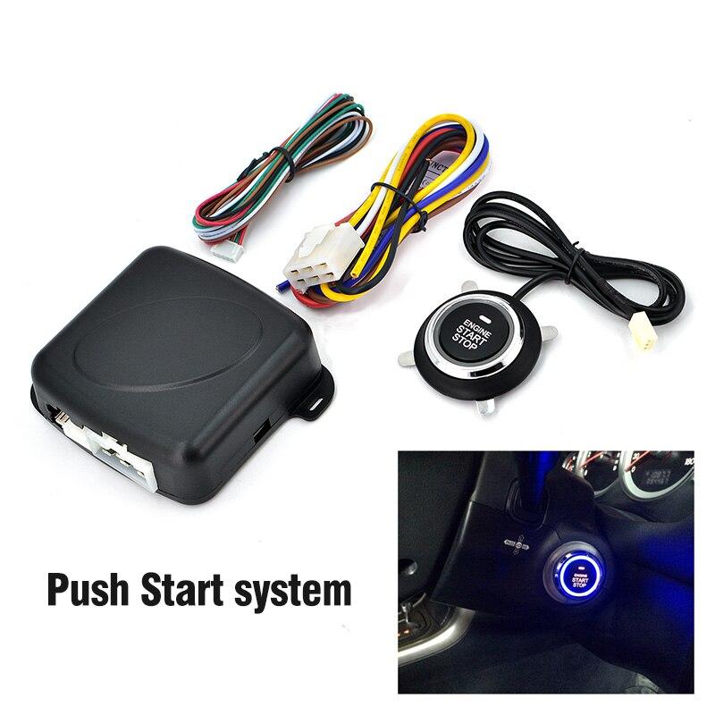 Système D'ARRÊT Moteur de DÉMARRAGE à bouton-poussoir système d'entrée sans clé avec bouton start-stop voiture d'alarme sysem start stop bouton