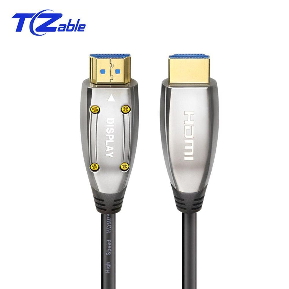 Câble Fiber optique HDM 8K 2.1 Version 48Gbps 120Hz pour PS4 HDR VRR 3D Audio vidéo HDMI câbles rallonge HDMI mâle à mâle