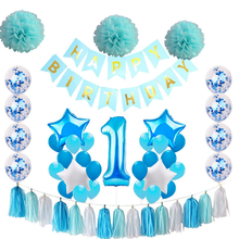 40inch number 1 foil balloon 18inch star heart 10inch mint latex confetti baby 1st birthday party