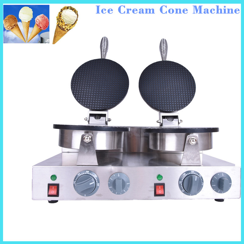 1PC High quality Electric Non-Stick double plate ice cream cone baker, 110V or 220v Ice cream cone making machine 2600W