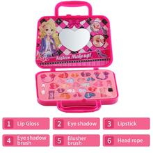 Kids Simulate Cosmetics Toy Storage Box with Handle Play House for Girls