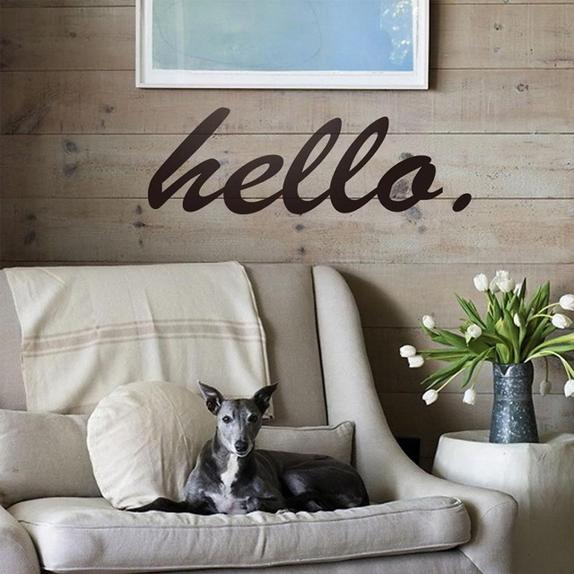 Stupendous Us 1 22 5 Off 1Pc New Fashion Hello Front Door Vinyl Wall Stickers Home Livingroom Sofa Background Wall Decals Art For Home Garden Decor In Wall Cjindustries Chair Design For Home Cjindustriesco