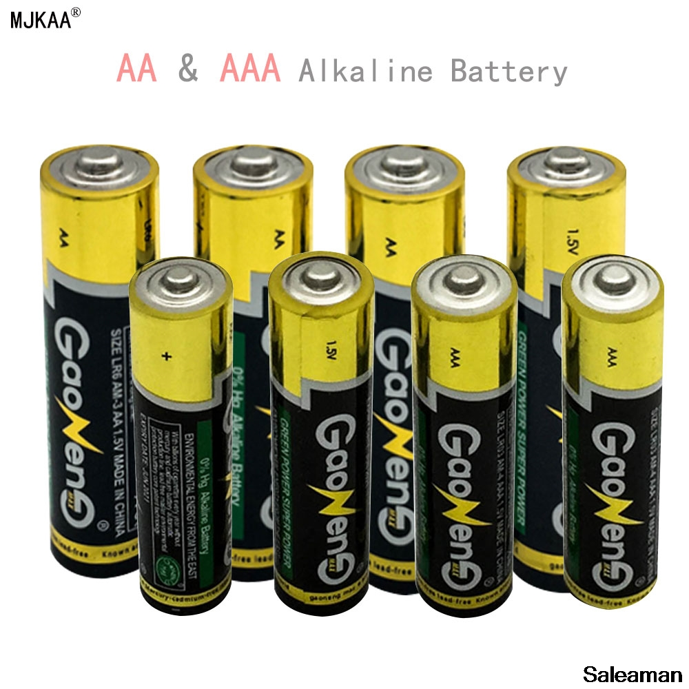 Saleaman 4pcs AA Alkaline Battery 4pcs AAA Alkaline Battery 7 LR03 Alkaline Dry Battery 1 5V