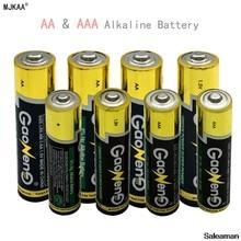 Saleaman 4 шт. АА Батарея 4 шт. ААА щелочные Батарея 7 # LR03 щелочных Батарея 1.5 В для игрушечные лошадки Камера RC Батарея