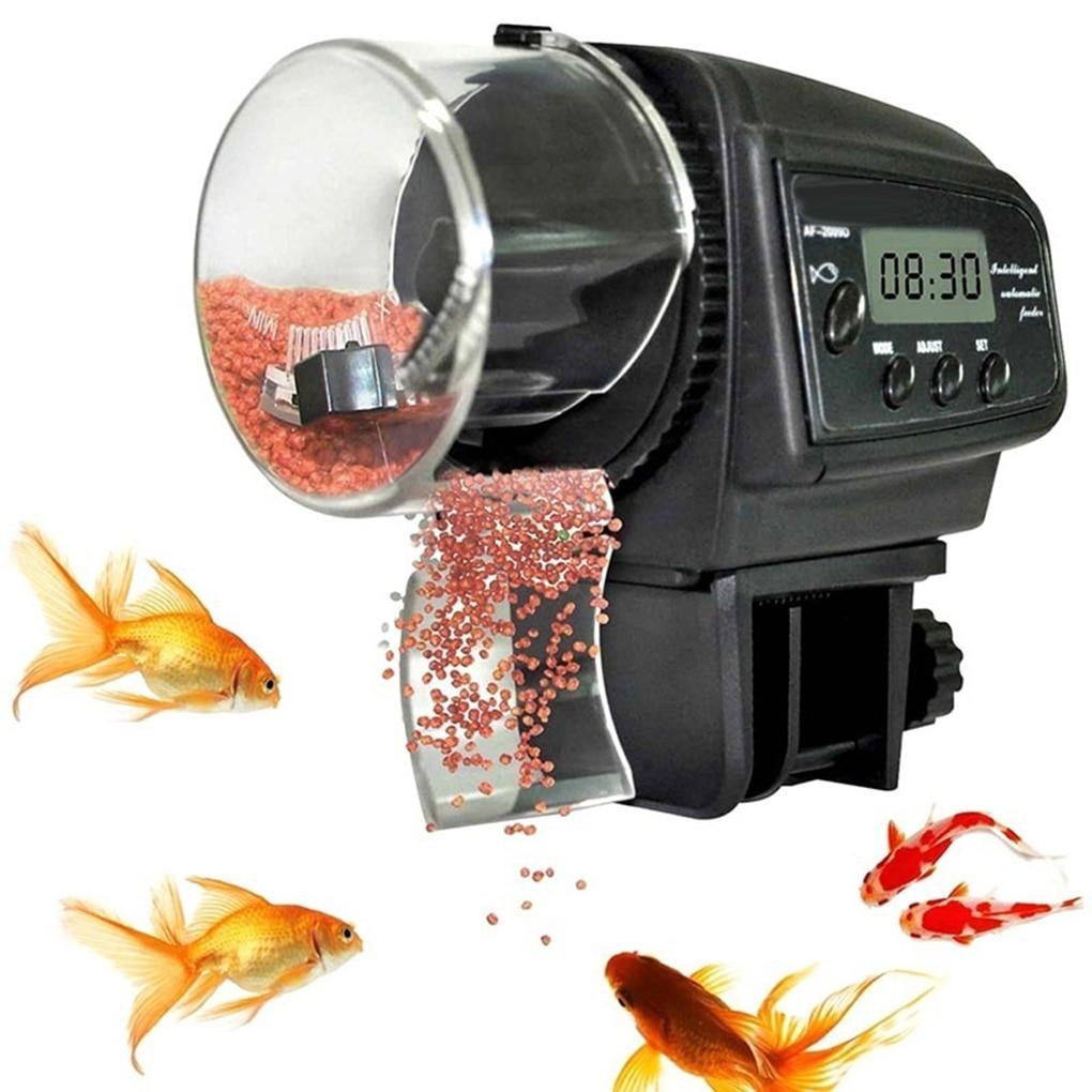 Automatische Feeder Aquarium Aquarium Teich Wand Montieren Timing Auto Fischfutter Dispenser Aquarium Zubehör
