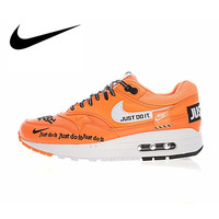 Original Authentic Nike Air Max 1 Just Do It 30th anniversary series Men's Running Shoes Sport Outdoor Sneakers classic 917691