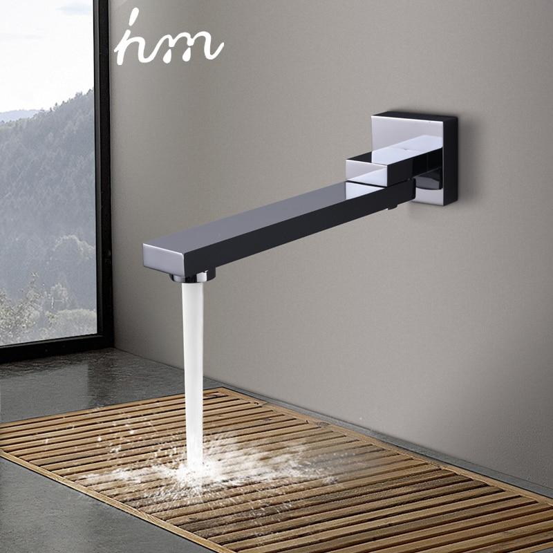 Grifos de ducha plegables de 180 grados de hm llenador de boquilla de latón sólido tipo Split Bibcocks lavabo grifo válvula mezcladora Caño y aireador de grifo