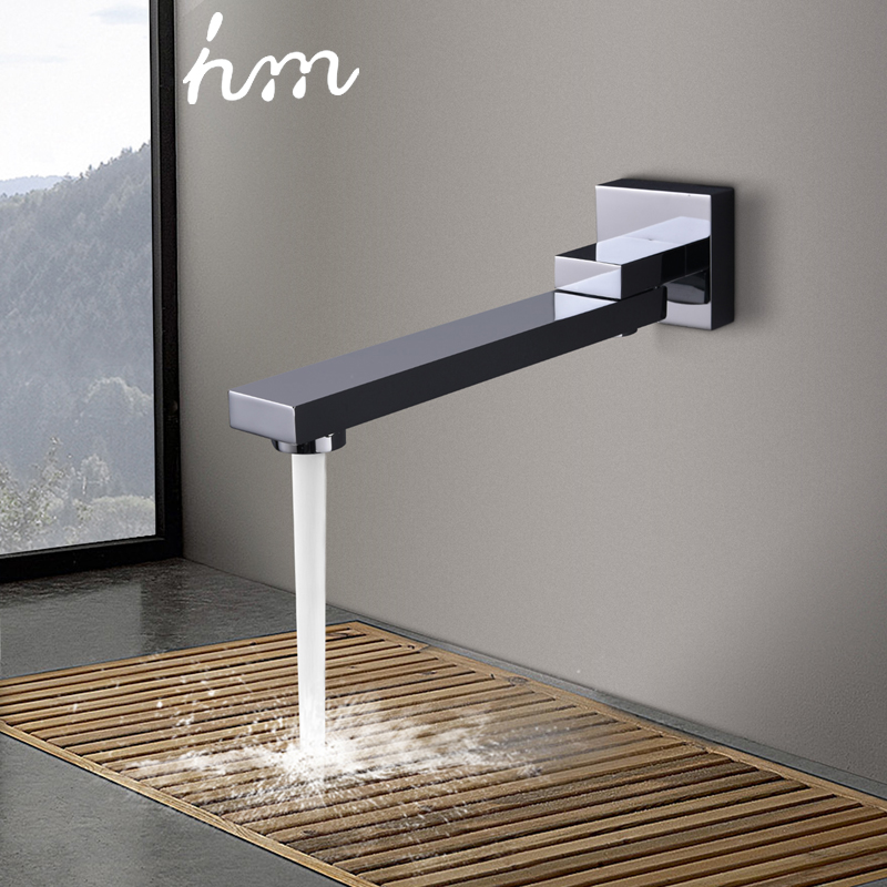 hm 180 Degree Folding Shower Faucets Spout Filler Solid Brass Split-type Bibcocks Basin Faucet Mixer valve Spout & Tap Aerator