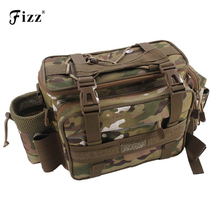 Outdoor Camouflage Fishing Tackle Box Container Shoulder Bag Oxford Cloth Accessories Waist Tool 43*17*22cm