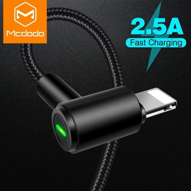 MCDODO USB Kabel für iPhone LED Schnelle Lade Datenkabel für iPhone XS MAX X XR 8 7 6 Plus 5 6 s s USB Handy Ladegerät Kabel