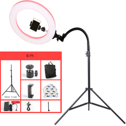 Photo Studio 16 600pcs LED 3Color3200K-5600K Dimmable Photography With Tripod Stand 1pc Bendable Metal Tube For Camera