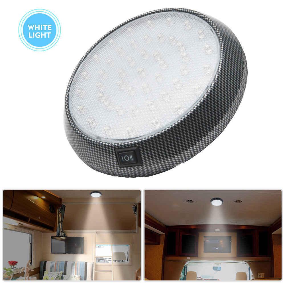 12 V Interior 46 LED Lampu Atap untuk Kemping Van Caravan Motor Lampu Kapal Putih dengan ON Off Switch