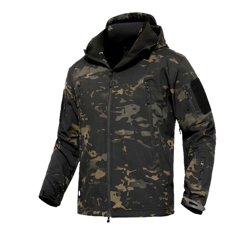 Military Jacket Men Winter Camouflage Tactical Waterproof Windbreaker Hooded Male Camo Coat Plus Size 5XL Bomber Army Jacket Men