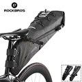 Велосипедная сумка ROCKBROS  полностью водонепроницаемая  износостойкая  большая емкость 8л 10л  хвостовая сумка  горная дорога  велосипед  аксес...