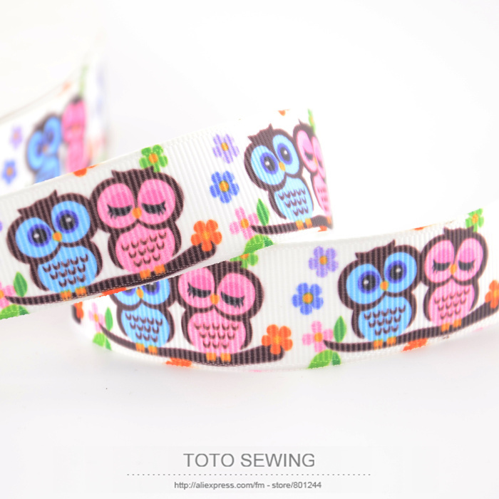 ⊱Min order is $5(mix order) cartoon owl designs 7/8 22mm width ...