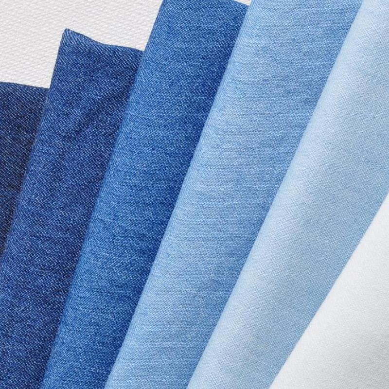 Buy 50x145cm blue cotton denim fabric for for Cloth material for sale