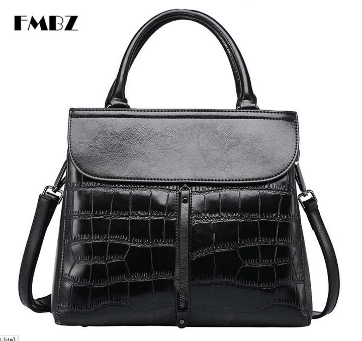 woman Bag 2018 New Cowhide Ladies woman Handbag Fashion Stone Pattern Shoulder Bag Messenger Bag Free Shipping
