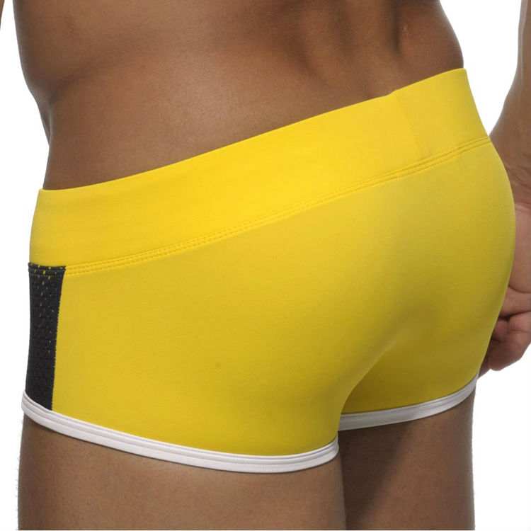 Brand Swimsuit Trunks Sexy Men Swimwear Swimming Shorts Summer Beach Gay Man Bathing Suit Swim Wear Nylon Boxer Trunk Low Waist