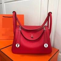 Factory wholesale classic genuine Togo Leather women bag Lindy lady purse fashion houlder bags 26cm or 30cm original quality