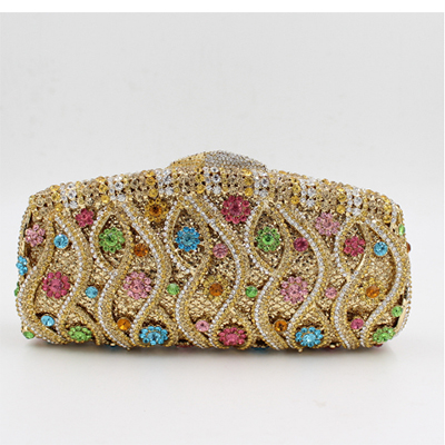 gold/red/blue/green Handbag Women Shoulder Bags Day Clutch bride Rhinestone Evening Bags for Wedding Party Clutches Purses girls tiered ruffle hem flare skirt