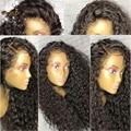 8a glueless full lace wigs virgin brazilian profunda curly silk top hair peruca Cheia Do Laço Perucas de Cabelo Humano Com Top De Seda Para As Mulheres Negras