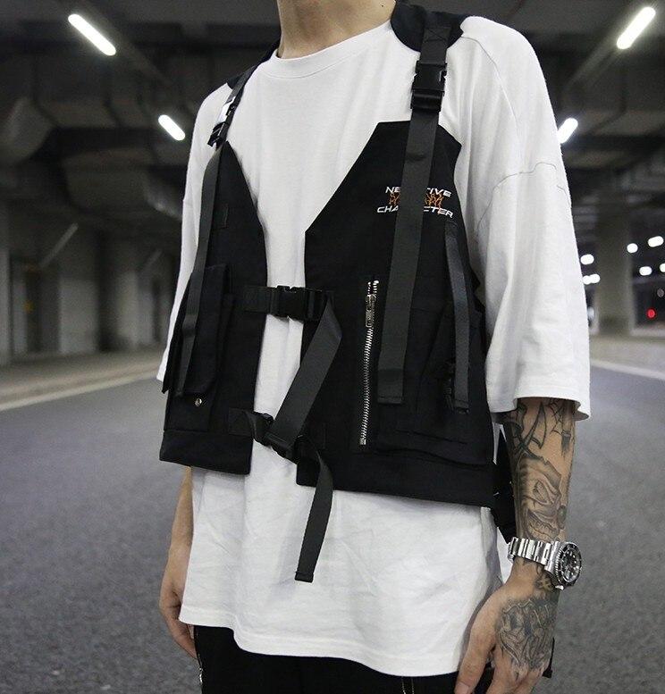 Deftig 2019 Hip-hop Kanye West Street Ins Hot Stijl Borst Rig Militaire Tactische Borst Tas Functionele Pakket Prechest Zak Vest Zak