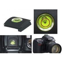 100 pçs/lote alta qualidade dslr camera bolha spirit level + hot shoe capa protetor para nikon canon casio fuji samsung
