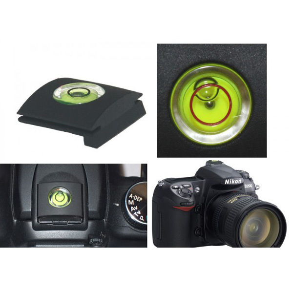 100PCS/LOT High Quality DSLR Camera Bubble Spirit Level + Hot Shoe Protector Cover for Nikon Canon Casio Fuji Samsung