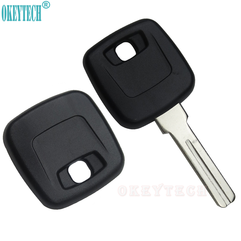 OkeyTech New Uncut Blade Transponder <font><b>Replacement</b></font> <font><b>Key</b></font> Shell Fob Case For <font><b>Volvo</b></font> v70 s80 s60 v40 xc90 <font><b>s40</b></font> xc70 xc60 With NE66 Blade image